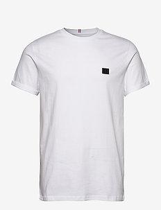 Boozt t-shirt - short-sleeved t-shirts - white/charcoal-black