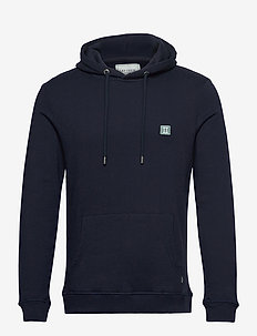 Boozt Piece Hoodie - hoodies - dark navy/petrol blue-white
