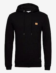 Boozt Piece Hoodie - basic sweatshirts - black/yellow
