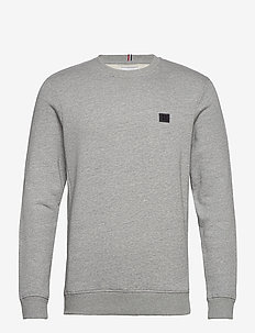 Boozt Piece Sweatshirt - basic sweatshirts - light grey melange/charcoal-black