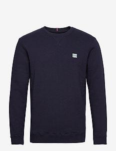 Boozt Piece Sweatshirt - basic sweatshirts - dark navy/petrol blue-white