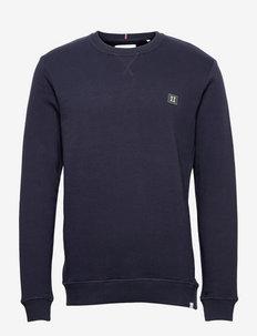 Piece Sweatshirt SMU - truien - dark navy/thyme green-white