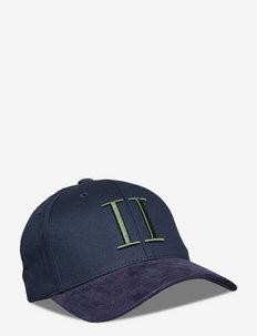 Baseball Cap Encore Suede SMU - casquettes - dark navy/thyme green