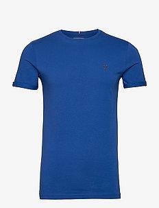 Nørregaard T-Shirt - basic t-shirts - cobalt blue/orange
