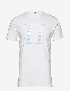 Stripe Encore T-Shirt - kortärmade t-shirts - 201420-white/sky blue