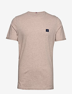 Piece T-Shirt - basic t-shirts - light brown melange/navy-lt. blue