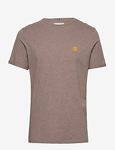 Piece T-Shirt - BROWN CUB MELANGE/YELLOW