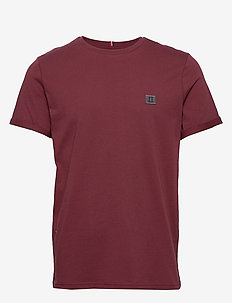 Piece T-Shirt - 6536-BURGUNDY/CHARCOAL