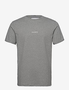 Lens T-Shirt - basic t-shirts - light grey melange/white