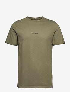 Lens T-Shirt - basic t-shirts - lichen green/black