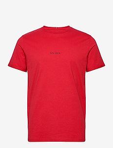 Lens T-Shirt - basic t-shirts - red/black