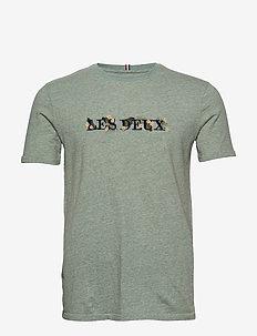 Fleur-De-Lis T-Shirt - PETROL MELANGE/DARK NAVY