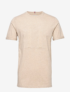 Embossed Encore T-Shirt - LIGHT BROWN MELANGE