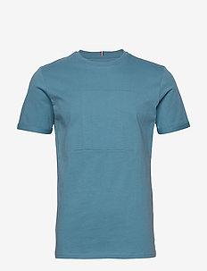 Embossed Encore T-Shirt - basic t-shirts - provincial blue