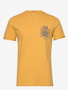 Boutique T-Shirt - short-sleeved t-shirts - golden yellow/charcoal