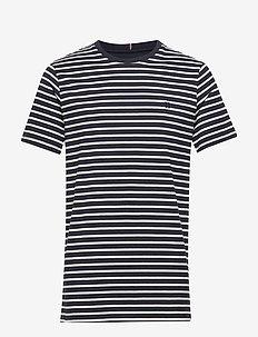 Sailor Stripe T-Shirt - t-shirts à manches courtes - navy+off white/sky blue