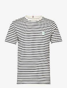 Sailor Stripe Patch T-Shirt - korte mouwen - off white+dark navy/mint+white