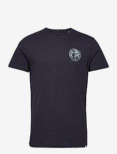 Asissi T-Shirt - basic t-shirts - dark navy/mint