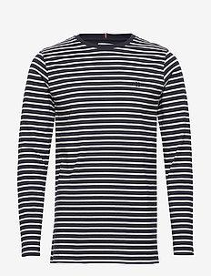 Sailor Stripe LS T-shirt - NAVY+OFF WHITE/SKY BLUE