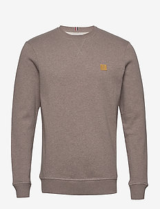 Piece Sweatshirt - BROWN CUB MELANGE/YELLOW