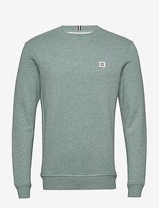 Piece Sweatshirt - PETROL MELANGE/OFF WHITE