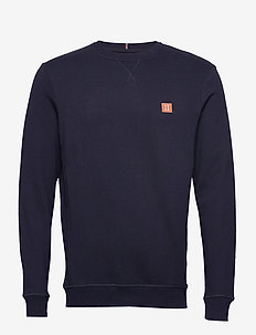Piece Sweatshirt - sweatshirts - dark navy/papaya