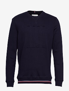 Embossed Sweatshirt - basic-sweatshirts - dark navy