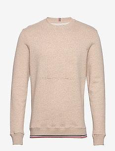 Embossed Sweatshirt - basic sweatshirts - light brown melange