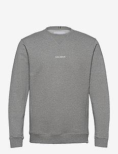 Lens Sweatshirt - truien - light grey melange/white