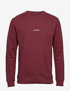 Lens Sweatshirt - swetry - 6565-burgundy