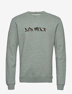 Fleur-De-Lis Sweatshirt - PETROL MELANGE/DARK NAVY