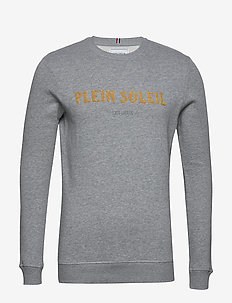 Plein Soleil Sweatshirt - basic-sweatshirts - grey melange/yellow