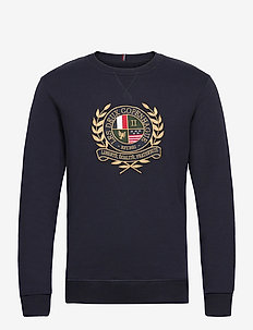 Egalité Sweatshirt - swetry - dark navy with multicolor artwork