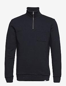 Cesana Halfzip Sweatshirt - basic sweatshirts - dark navy