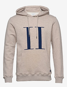 Encore Hoodie - LIGHT BROWN MELANGE/NAVY