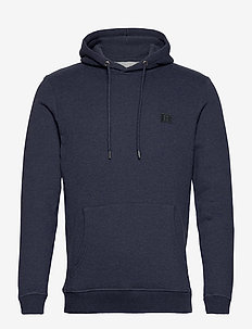 Piece Hoodie - hoodies - royal blue melange/blue fog-charcoal