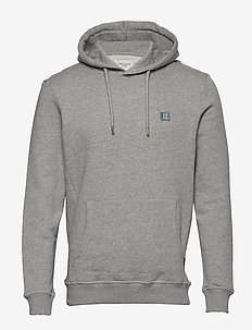 Piece Hoodie - GREY MELANGE/LIGHT PETROL