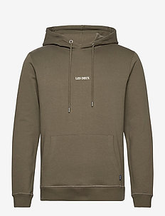 Lens Hoodie - hettegensere - turtle green/off white