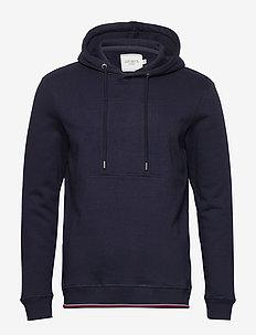 Embossed Encore Hoodie - basic sweatshirts - dark navy
