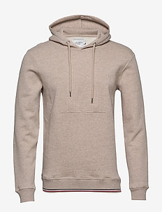 Embossed Encore Hoodie - basic-sweatshirts - light brown melange