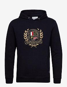 Egalité Hoodie - hoodies - dark navy with multicolor artwork