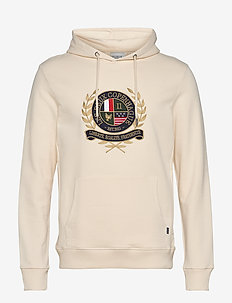 Egalité Hoodie - hoodies - off white with multicolor artwork