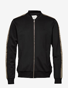 Hermité Track Jacket - podstawowe bluzy - black/dk. olive green