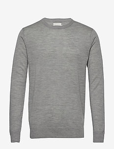 Ben Merino Knit - basic strik - grey melange