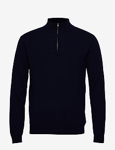 Cashmerino Zipper Knit - DARK NAVY