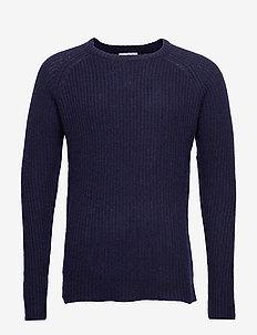 Piece Wool Knit - DARK NAVY