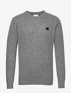 Piece Brushed Knit - perusneuleet - 3223-medium grey melange