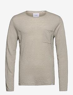 Evan Linen Knit - basic strik - mirage gray