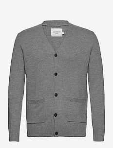 Sean Cardigan - basic strik - light grey melange