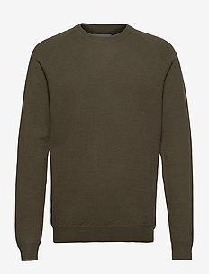 Ethan Wool Knit - basic knitwear - turtle green